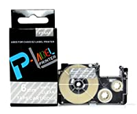 カシオ ネームランド用 互換 テープカートリッジ 6mm XR-6AX 透明地白文字