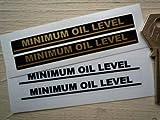 Minimum Oil Level Indicator Stickers Black &Clear ステッカー デカール シール 90mm x 10mm 2枚セット [並行輸入品]