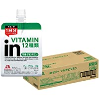 inゼリー マルチビタミン グレープフルーツ味 (180g×36個) 栄養補助ゼリー 10秒チャージ 1日分のビタミン12種類配合 栄養機能食品(ビオチン)