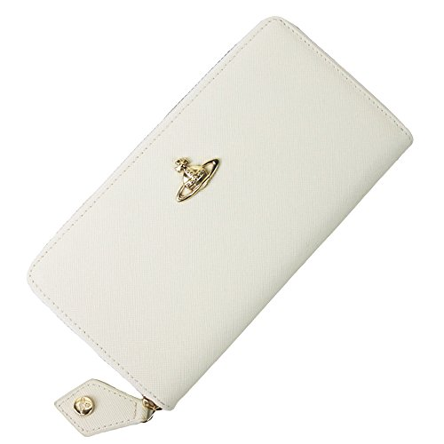 Vivienne Westwood ヴィヴィアン ウエストウッド 財布 55306 ファスナー 長財布 レディース (ホワイト) [並行輸入品]