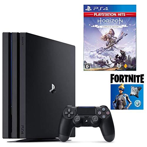 【プライムデー特別価格】PlayStation 4 Pro フォートナイト ネオヴァーサバンドル + Horizon Zero Dawn Complete Edition セット (ジェット・ブラック) (CUH-7200BB01)