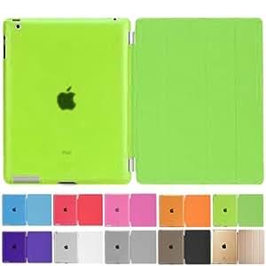 MS factory iPad2 iPad3 iPad4 スマート カバー バック ケース ライム IPD-SSET-LM
