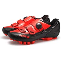 Cycling Shoes, Adults' Mountain Bike Shoes Breathable Wear Resistant Pu Road Biking Shoes Unisex Spin Buckle Mountain Running Shoe,C,39