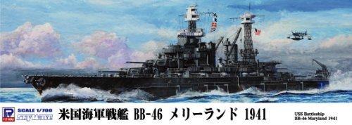 1/700 米国海軍 コロラド級戦艦 BB-46 メリーランド 1941 (W150)