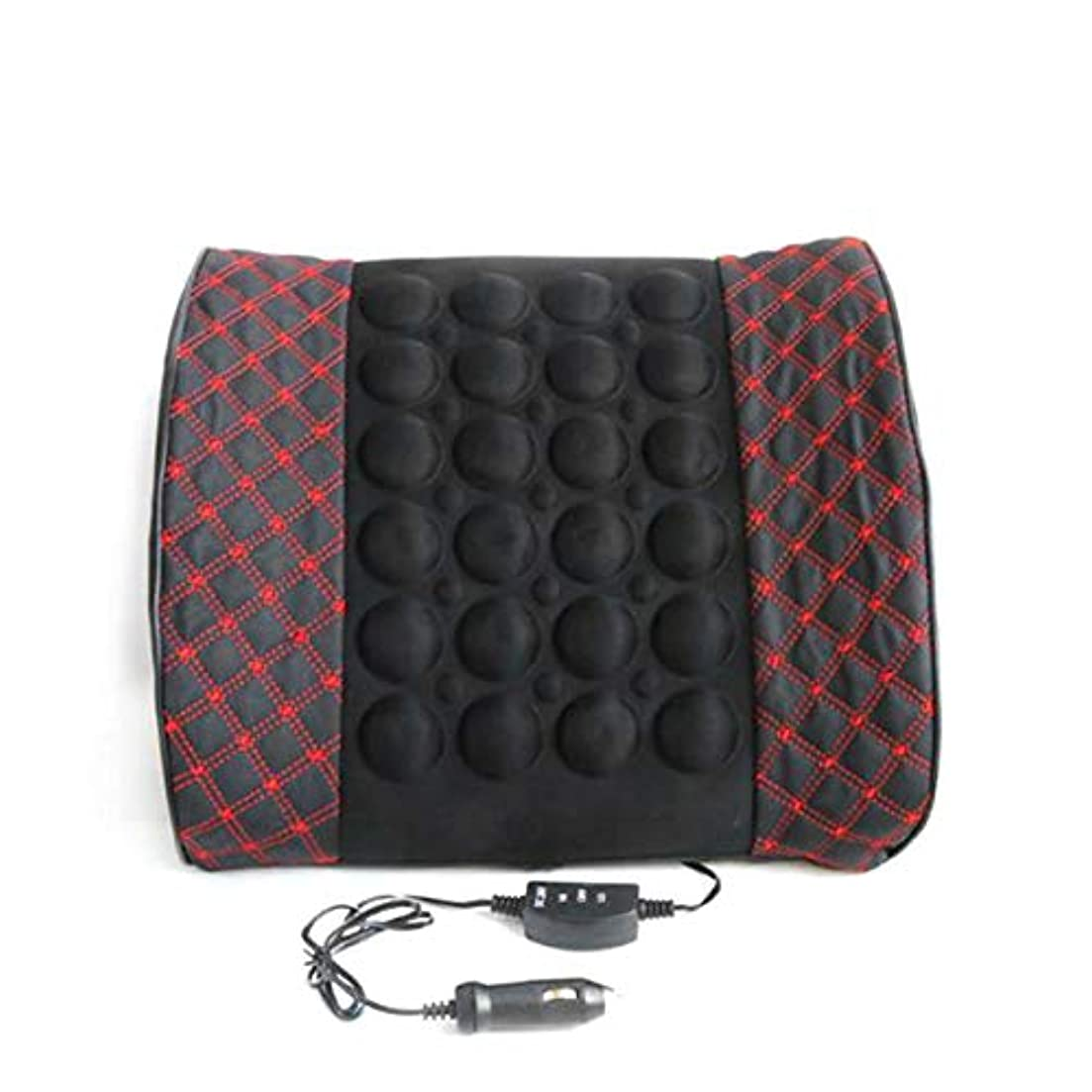 ブロックする決定的医学Microfiber Leather Car Back Support Lumbar Posture Support Breathable Electrical Massage Cushion Health Care Tool