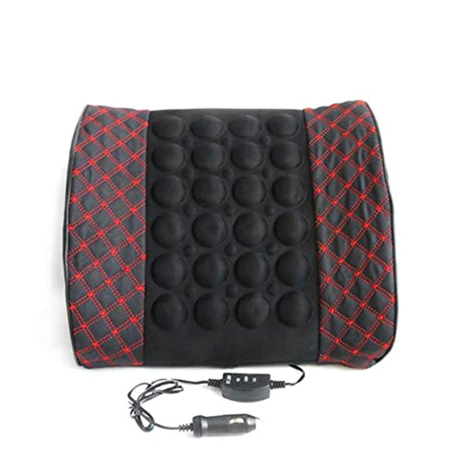 Microfiber Leather Car Back Support Lumbar Posture Support Breathable Electrical Massage Cushion Health Care Tool