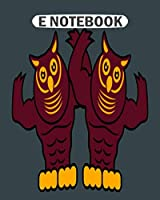 E Notebook: 13th anniversary owl couple  College Ruled - 50 sheets, 100 pages - 8 x 10 inches