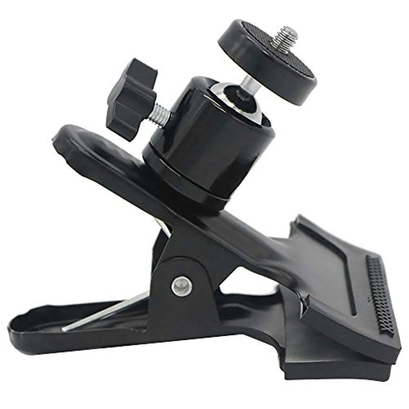 懐聴く検索エンジン最適化クリップ式雲台 カメラクリップ カメラクランプ クリップ カメラホルダー 雲台 強力 撮影用小道具 360度回転 万能クリップ 撮影用クリップ