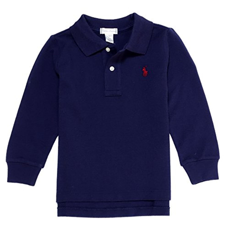 (ポロ ラルフローレン) POLO RALPH LAUREN ベビー 男の子 長袖 ポロシャツ Cotton Mesh Long-Sleeve Polo ネイビー Newport Navy (12M) [並行輸入品]