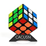 CACUSN 磁石キューブ M4.0 プレゼント用 競技用キューブ 3x3x3 プロ向け 達人向け ステッカー 世界基準配色 マグネット スタンド付き ギフト向けパッケージ