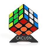 CACUSN スピードキューブ 磁石内蔵 M4.0 競技用キューブ 3x3x3 プロ向け 達人向け 中級者向け ステッカー 世界基準配色 マグネット スタンド付き