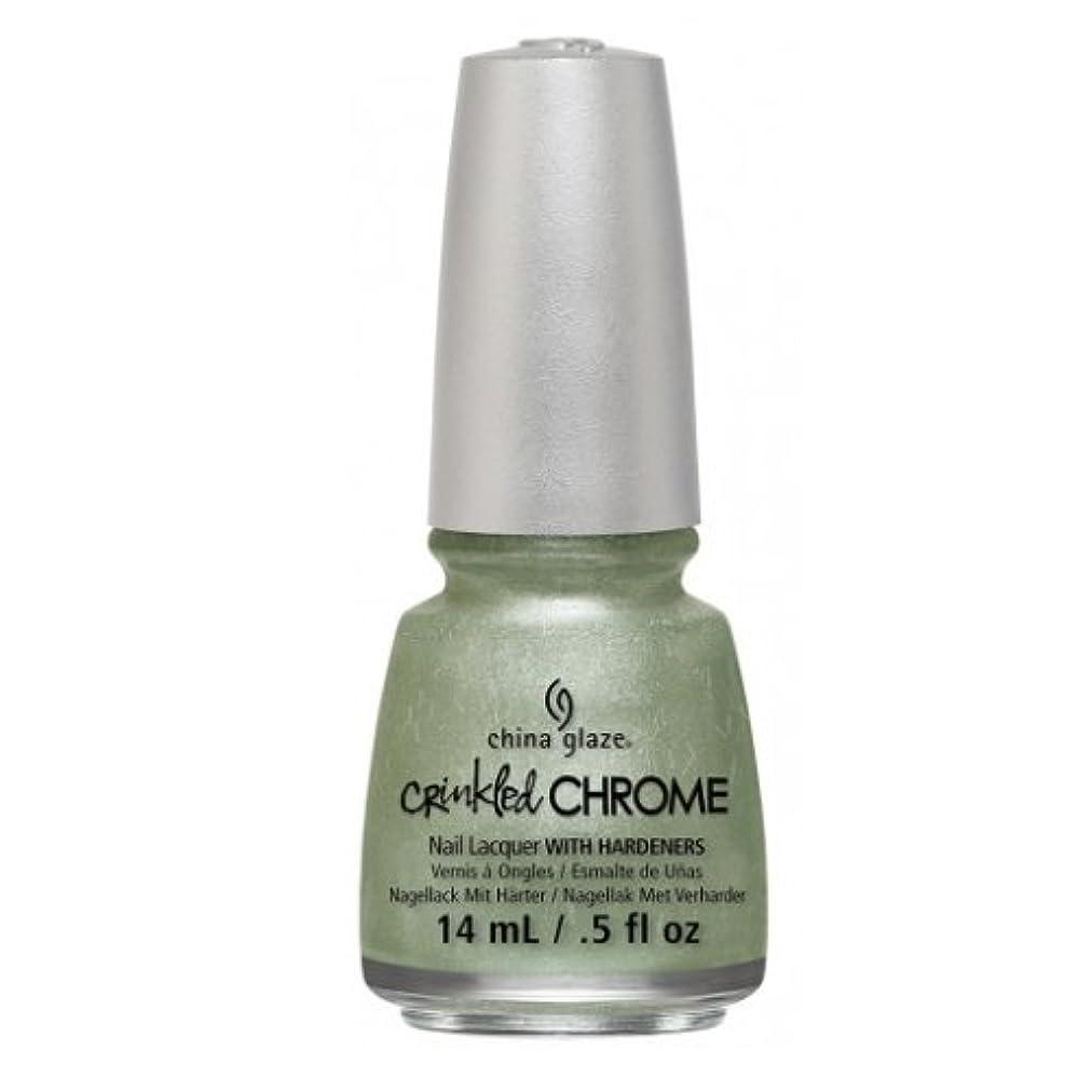 アクセサリーノーブルほこりっぽい(6 Pack) CHINA GLAZE Nail Lacquer - Crinkled Chrome - Wrinkling the Sheets (並行輸入品)
