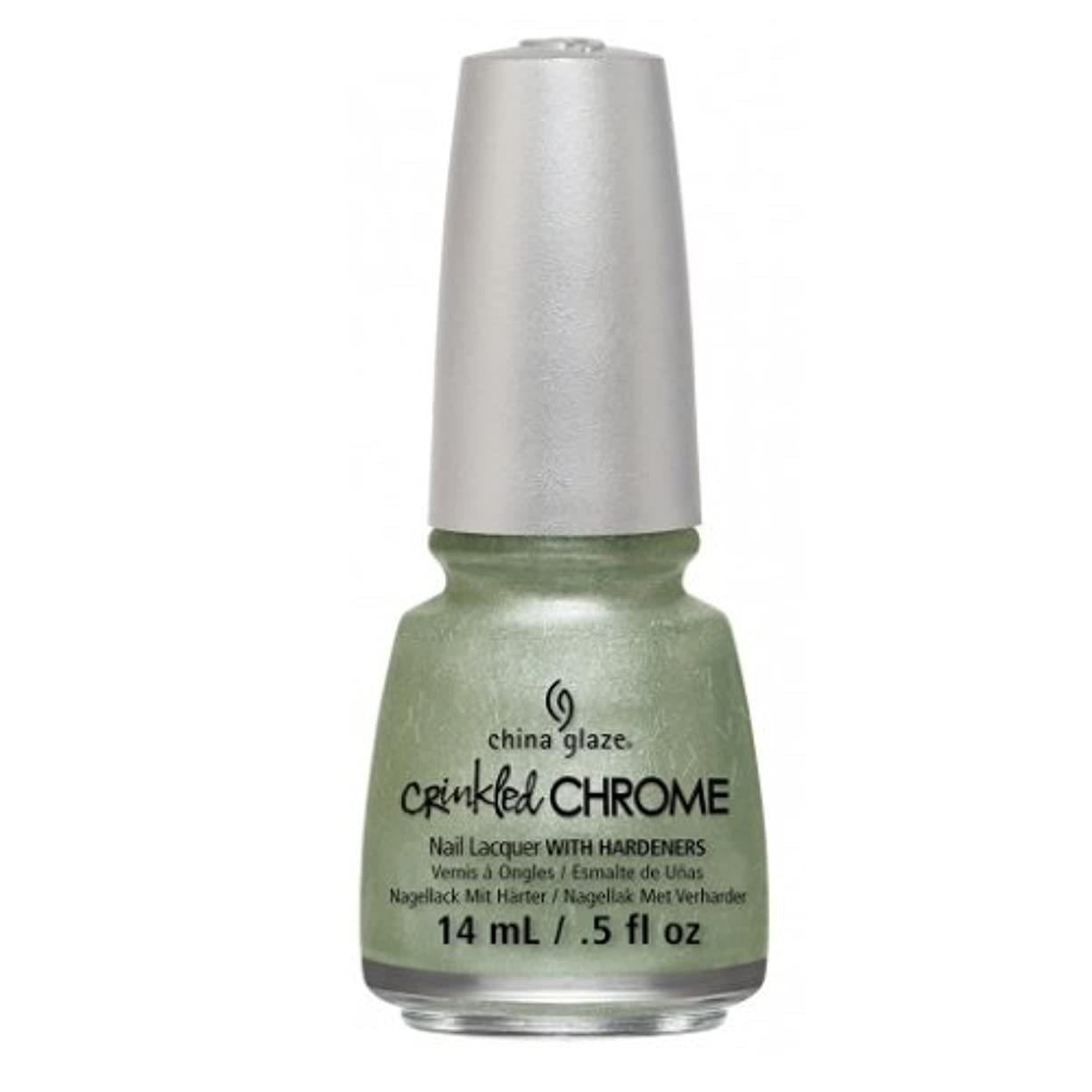 一生反動緑(3 Pack) CHINA GLAZE Nail Lacquer - Crinkled Chrome - Wrinkling the Sheets (並行輸入品)
