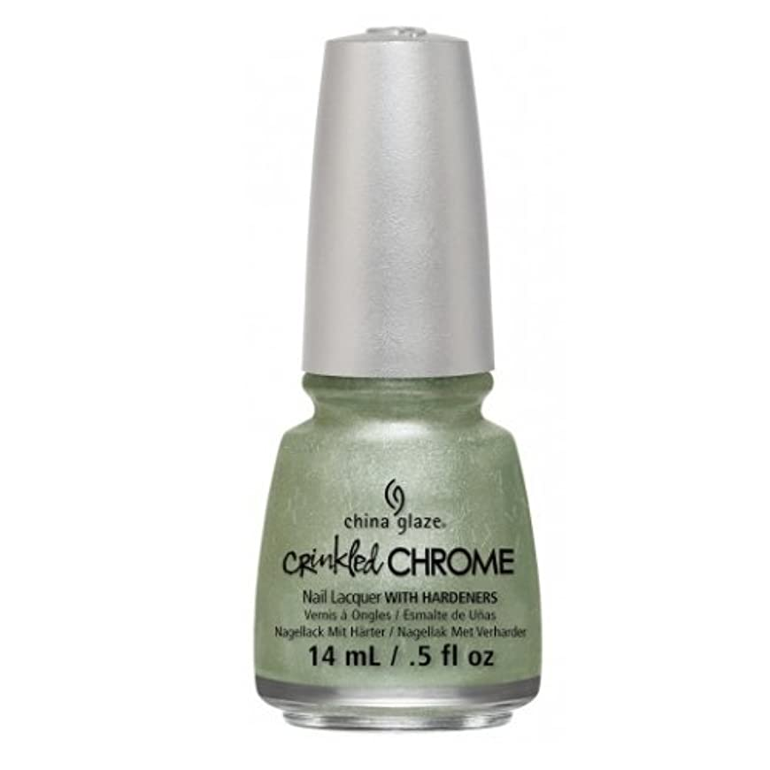 実行数学チロ(3 Pack) CHINA GLAZE Nail Lacquer - Crinkled Chrome - Wrinkling the Sheets (並行輸入品)