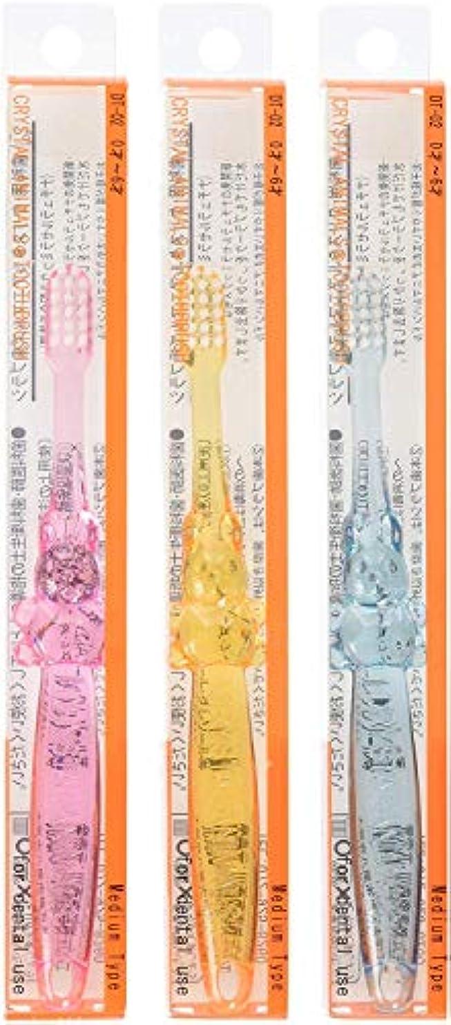 クリスタルアニマルズ ハブラシ ×3本 DT-02 (6才から12才用) (ふつう) (アソート) 水だけで磨ける歯ブラシ