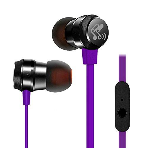 SoundPEATS (メーカー直販/1年保証付) 7色展開 カナル型 イヤホン 高音質 密閉型 外部ノイズ遮断 マイク付き 通話可能 曲送り戻し可能 M20 (パープル)