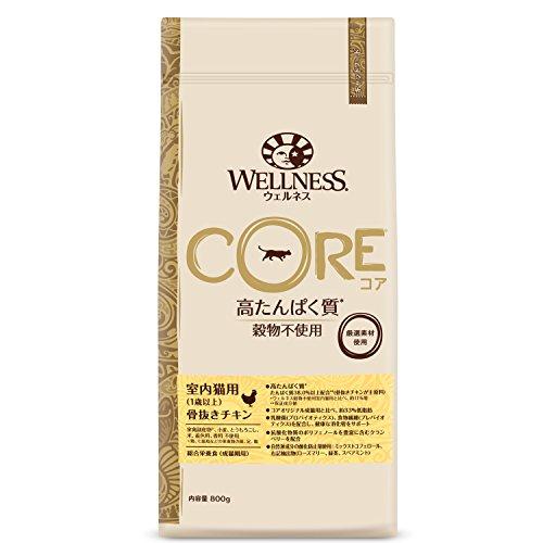 ウェルネス コア(穀物不使用・高たんぱく質) 室内猫用(1歳以上) 骨抜きチキン 800g
