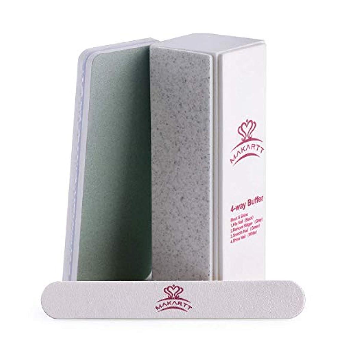 寝室同盟一致Makartt プロネイルファイルセット バッファー ペディキュアセット DIYネイル ネイルサロン 爪磨きピカピカ 3セット