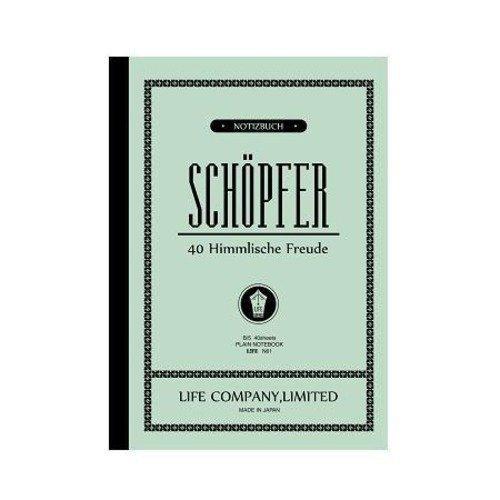 B5 シェプフェル(SCHOPFER)ノート 40枚 クリーム【無地】 N61