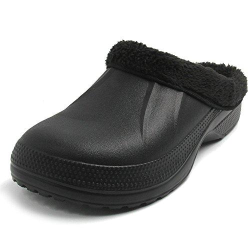 (アモジ)Amoji サンダル スリッパ ルームシューズ クロッグサンダル サボサンダル 室内履き メンズ レディース ブラック 24.0~24.5cm