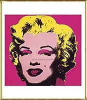 ポスター アンディ ウォーホル マリリンモンロー 1967 (hot pink) 額装品 アルミ製ベーシックフレーム(ゴールド)