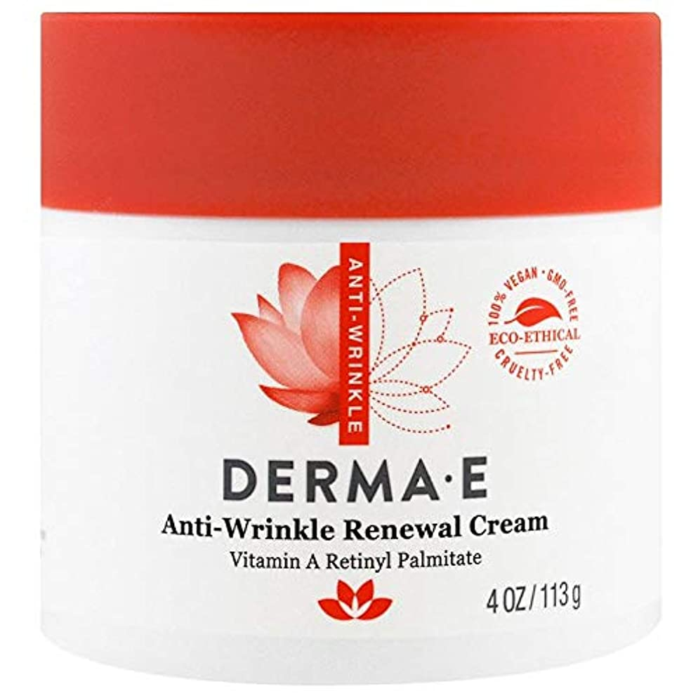 比類のない神秘的な重くするDerma E, Anti-Wrinkle Vitamin A Retinyl Palmitate Cream, 4 oz (113 g)X 2 パック並行輸入品