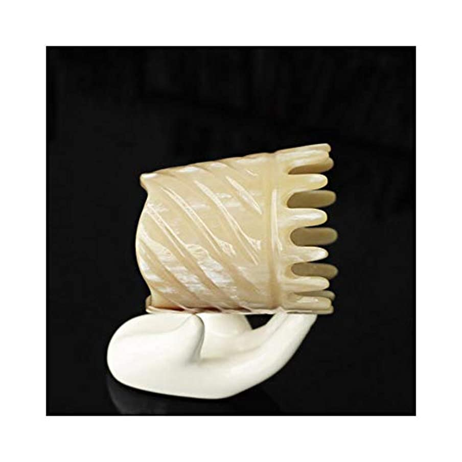 雄弁対処クラッシュWASAIO 頭皮マッサージはありません静的手作りのための自然木製ヤクホーンくしDetangleコームズメンズ?レディース?ヘアーブラシセットパドル (色 : A)