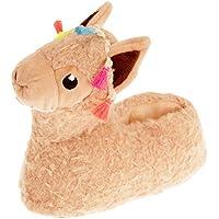Slumberzzz Childrens/Kids Llama Slippers (UK Size: 9-10 Child UK) (Beige)