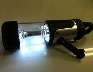 電池不要です。100VコンセントUSB 手巻き発電 発電LEDライト