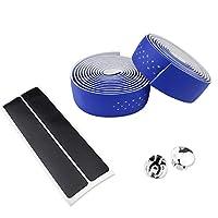 スポーツ用品 EVAロードバイクハンドルバーテープバーラップ2PCS スポーツアクセサリー (色 : 青)