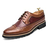 [MUMUWU] メンズ 靴 ビジネスシューズ 紳士靴 革靴 シューズ シンプル 男性 通気性 人気 (Color : Yellow blue, サイズ : 25 CM)