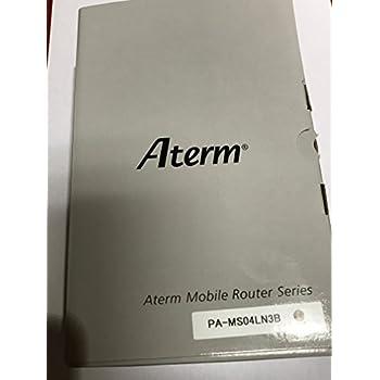 NEC SIMロックフリー LTE モバイルルーター Aterm MR04LN 3B【クレードル付属】( デュアルSIM 対応 / microSIM ) (PA-MS04LN3B)