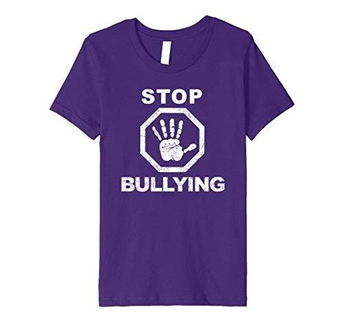 Kids Stop Bullying Anti Bullying T-Shirt 6 Purple [並行輸入品]
