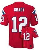 Tom Brady New England PatriotsレッドユースジャージーL 14–16