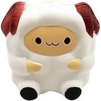 Squishy動物ジャンボ、Shensee Kawaiiラムクリーム香りつきSquishies Slow Rising Decompression子シミュレーションかわいい羊おもちゃ