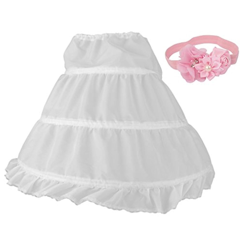 Lovoski 赤ちゃん 女の子 クリノリン ペチコート ヘッドバンド ヘアバンド 髪飾り付