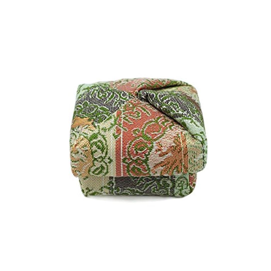 荒涼としたまろやかな孤独布香合‐角‐ 紙箱入 鳳凰紋
