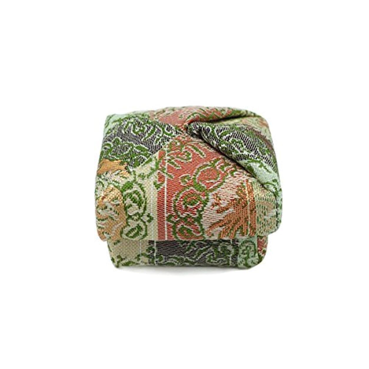 工場好奇心盛淡い布香合‐角‐ 紙箱入 鳳凰紋