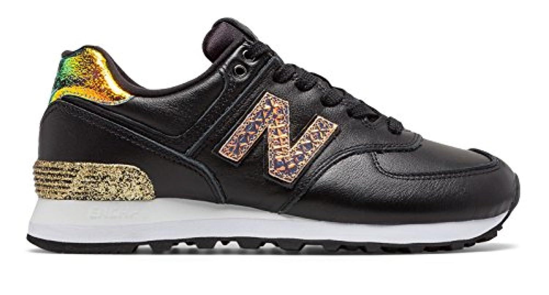 (ニューバランス) New Balance 靴?シューズ レディースライフスタイル 574 Glitter Punk Black with Metallic Gold ブラック メタリック ゴールド US 6 (23cm)