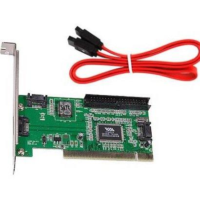 SODIAL(R) 4ポートSATA PCI拡張カード&IDE VIA VT6421a チップセット