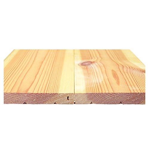 【Bグレード】北欧レッドパイン 無垢フローリング 床材 エンドマッチ 15x112x3850mm 8枚入