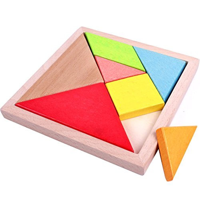 Linshop ジグソーパズルの赤ちゃん幼児のビルディングブロックの木の良い情報のおもちゃ1-3-4-5-6歳