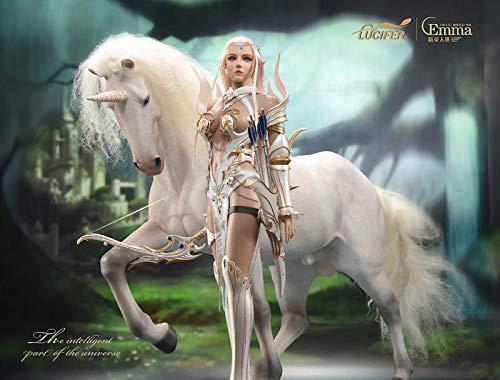 [Neinei]Lucifer 1/6 フィギュア エルフの女王 - エマ Elf Queen- Emma 素体 鎧 服 セット ユニコーン 付き LXF1904B (高級版)