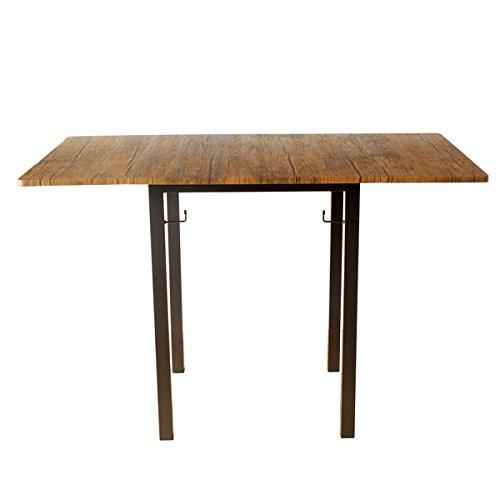 2人用バタフライ 折りたたみ (3パターン) ダイニングテーブル ブラウンパイン 高さ75cm FTS-116-BRP