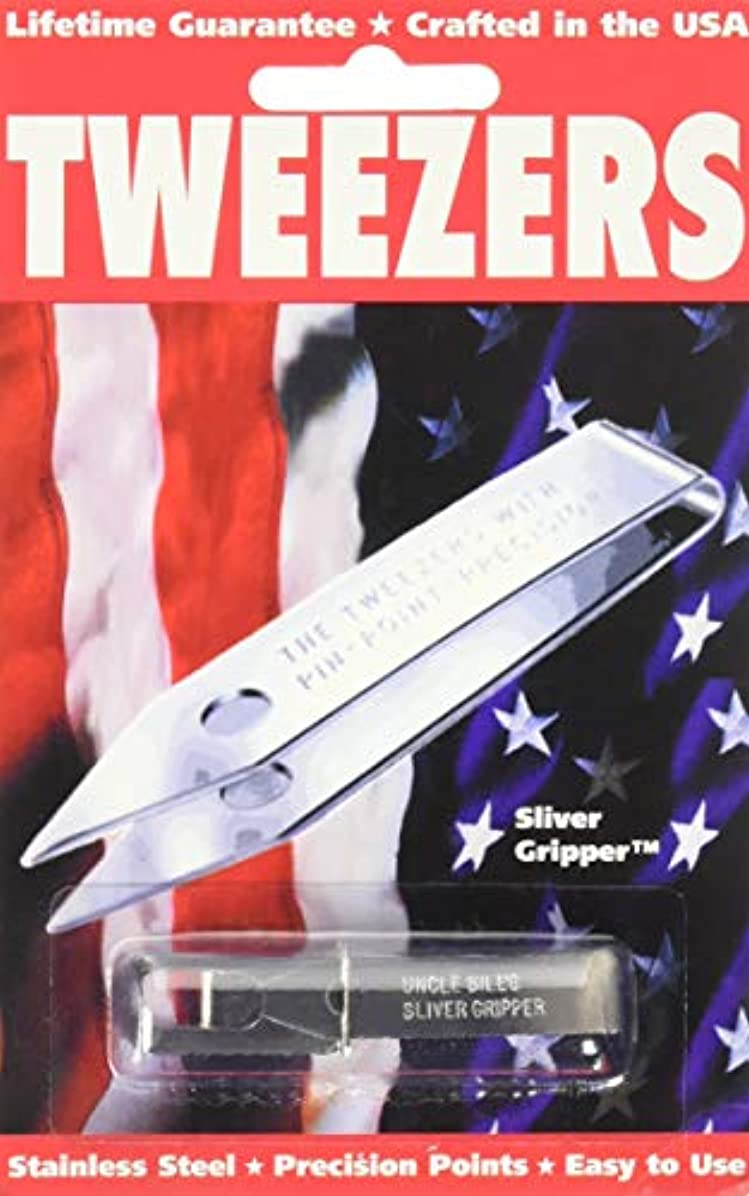 些細な混乱させる繰り返しSliver Gripper Uncle Bill's Key Chain Tweezers by Sliver Gripper