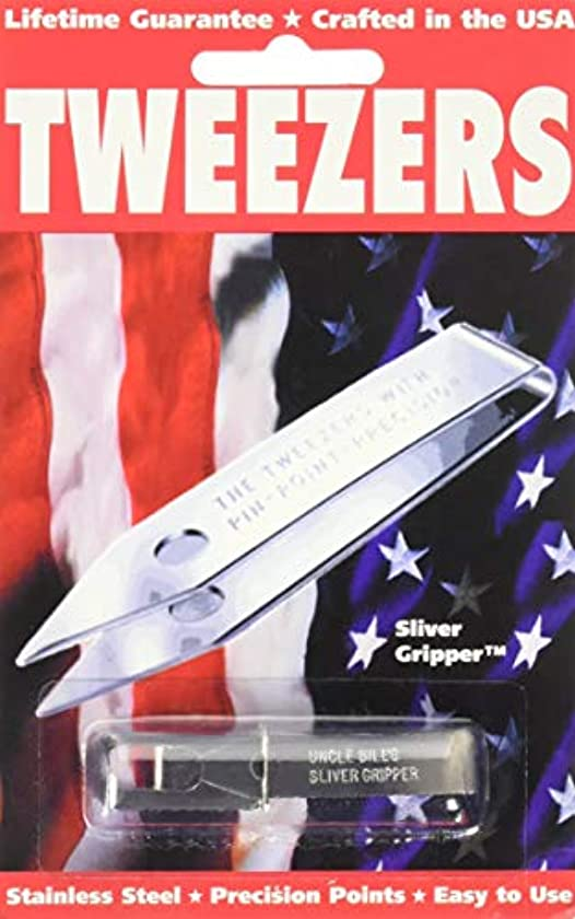 差別調停する変化するSliver Gripper Uncle Bill's Key Chain Tweezers by Sliver Gripper