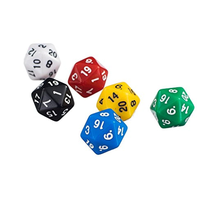 【ノーブランド 品】サイコロ ゲーム 20両面ジェムダイス サイコロゲーム パーティー プレゼント 6個