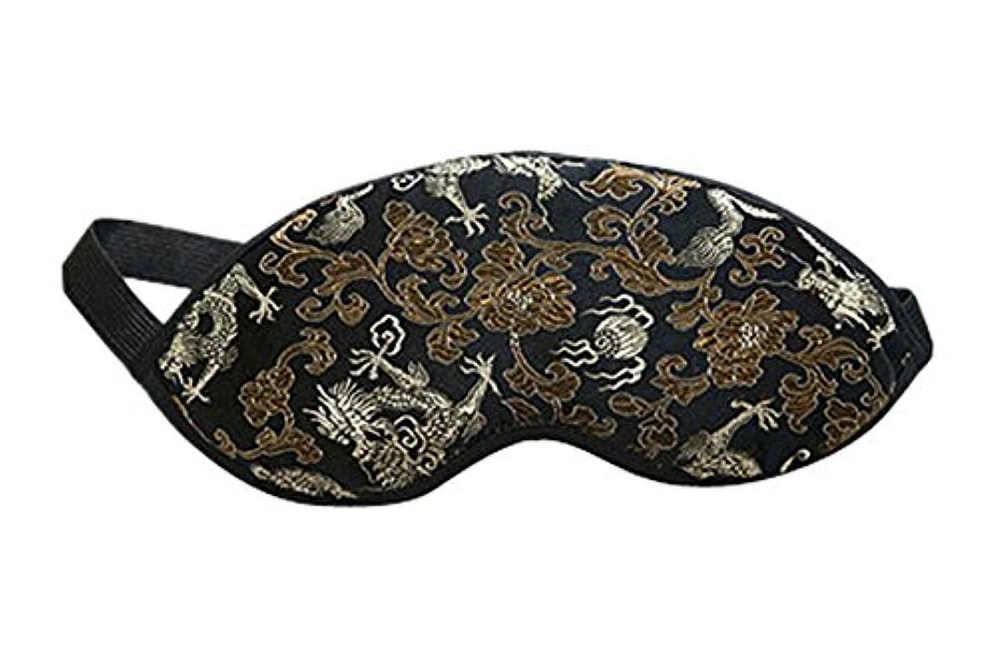 条件付き同行滑りやすいスリープドラゴン用の刺繍ドラゴンソフトシルクアイマスク