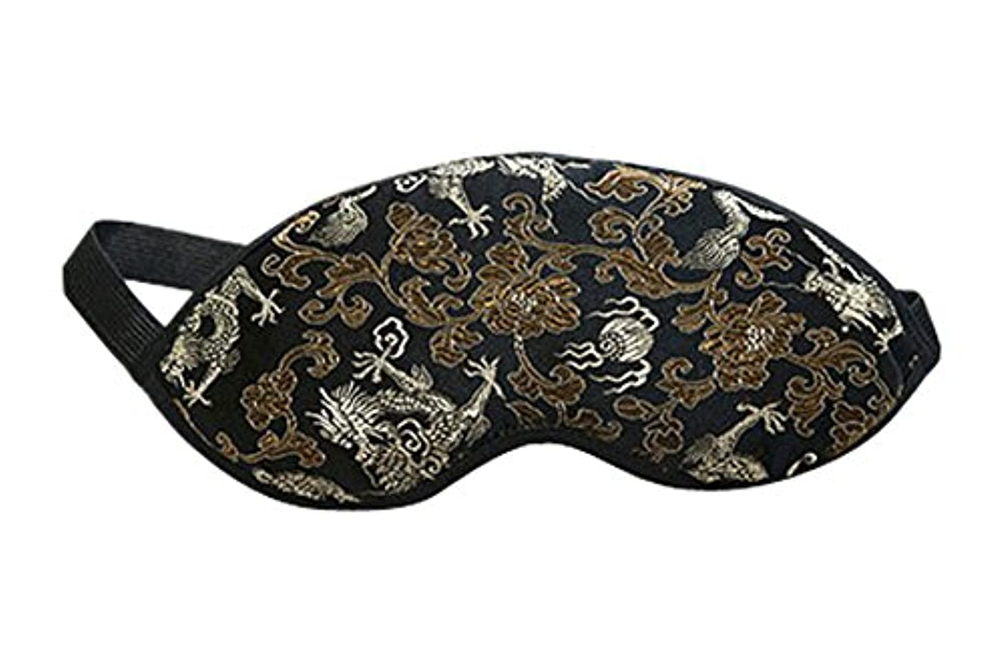 出版息切れ好奇心盛スリープドラゴン用の刺繍ドラゴンソフトシルクアイマスク