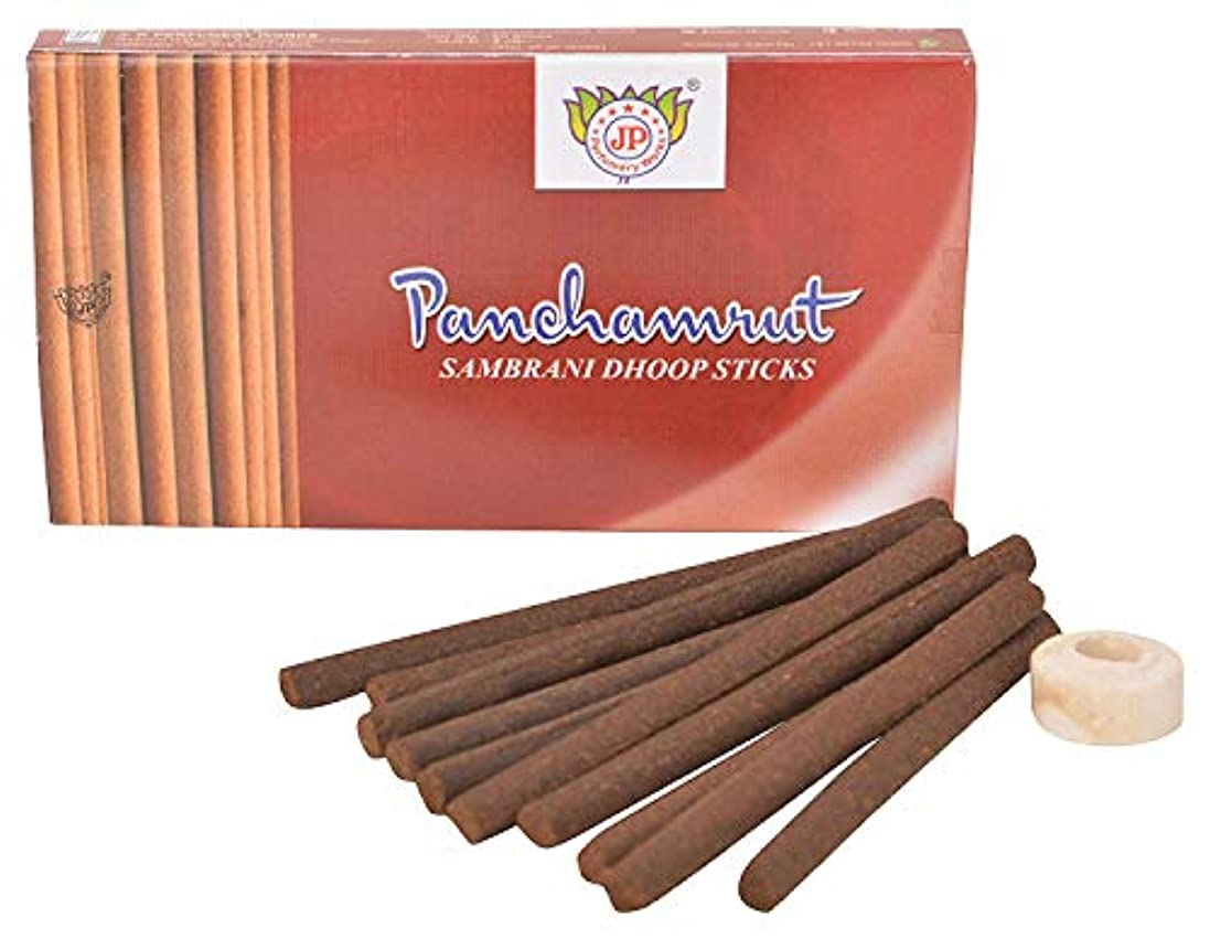 エゴイズムコンベンションパドルJ.P.Perfumery Works Panchamrut Sambrani Dhoop Sticks - Pack 12